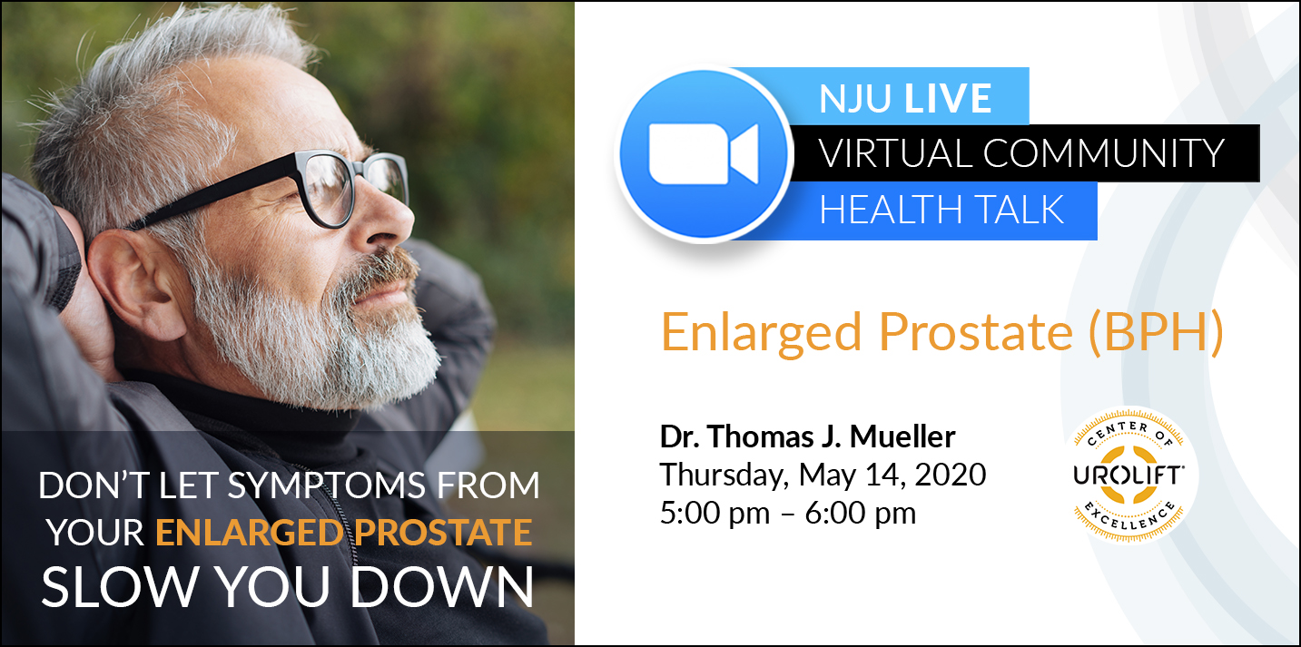 Virtual Community Health Talk: Enlarged Prostate (BPH)