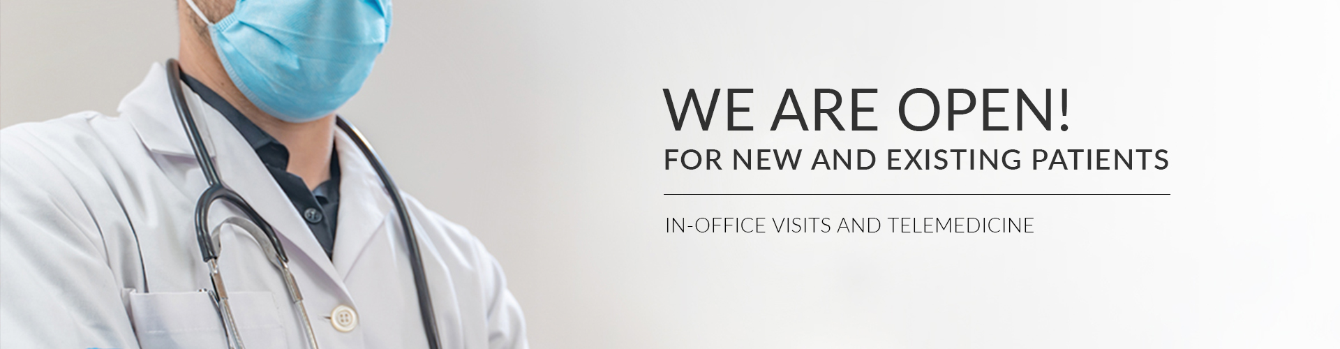 NJ Urology: We Are Open - In-Office Visits and Telehealth