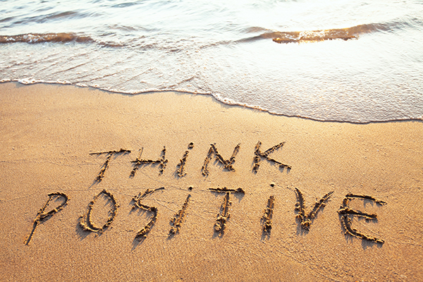 Positive thinking is better than worrying.