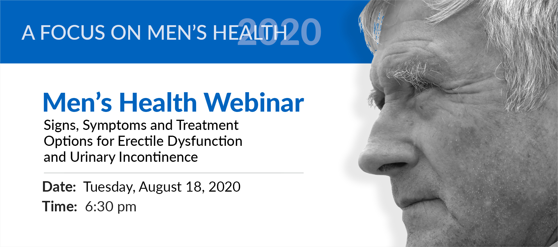 men's health webinar erectile dysfunction urinary incontinence